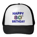 Happy 80th Birthday Gifts and Birthday Apparel Mesh Hat