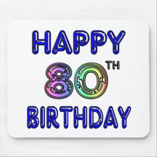 Happy 80th Birthday Gifts and Birthday Apparel Mousepads