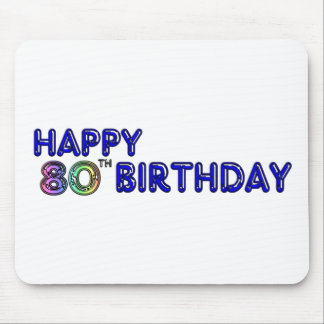 Happy 80th Birthday Gifts and Birthday Apparel Mousepad