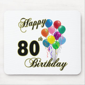 Happy 80th Birthday Gifts and Birthday Apparel Mouse Pad