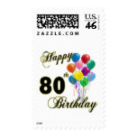 Happy 80th Birthday Gifts and Birthday Apparel Postage Stamp
