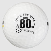 Happy 80th Birthday Golf Balls