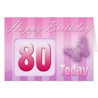 Happy 80th Birthday Grand Mother Great-Aunt Mom Card