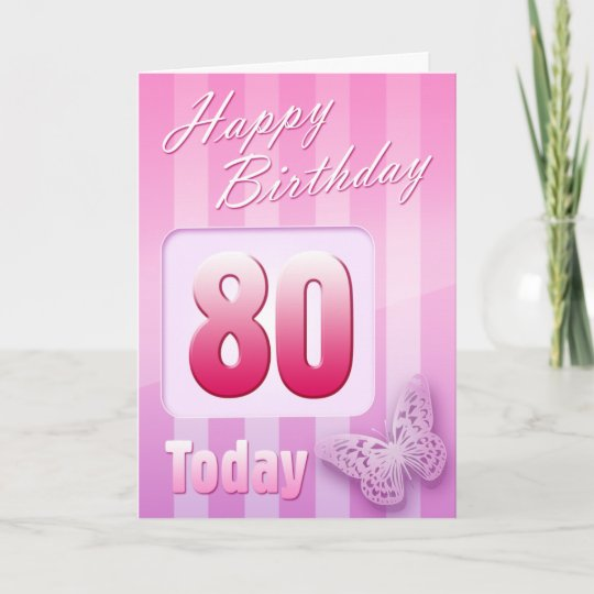 Happy 80th Birthday Grand Mother Great Aunt Mum Card Zazzle