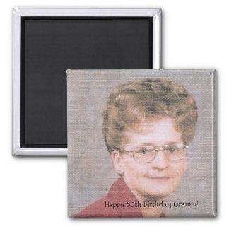 Happy 80th Birthday Granny! 2 Inch Square Magnet