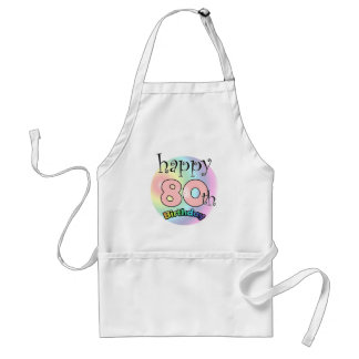 Happy 80th Birthday (pink) Adult Apron