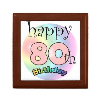 Happy 80th Birthday (pink) Keepsake Box