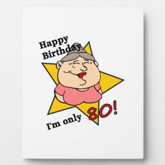 Happy 80th Birthday Plaque