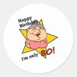 Happy 80th Birthday Round Sticker