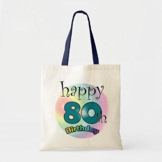 Happy 80th Birthday Tote Bag