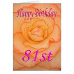 Happy 81st Birthday Flower Card