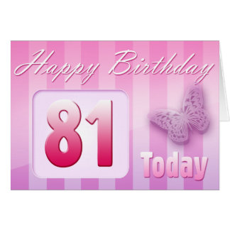 Happy 81st Birthday Grand Mother Great-Aunt Mom Card