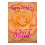 Happy 82nd Birthday Flower Card