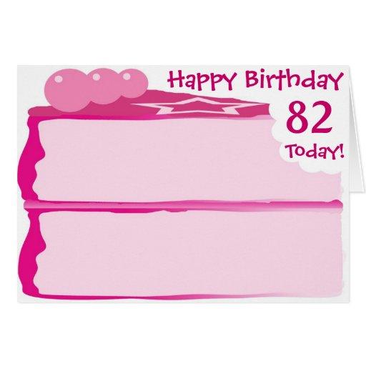 Happy 82nd Birthday Greeting Card Zazzle