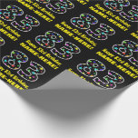 [ Thumbnail: Happy 83rd Birthday, Fun Colorful Stars Pattern 83 Wrapping Paper ]