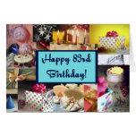 Happy 83rd Birthday Greeting Card