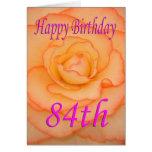 Happy 84th Birthday Flower Card