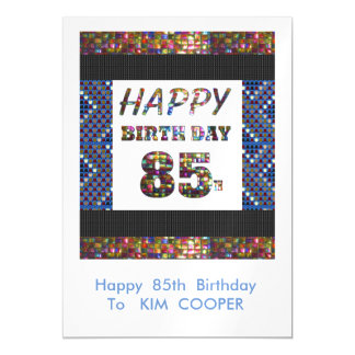 Happy 85th Birthday Change or delete Text msg 85 Magnetic Card