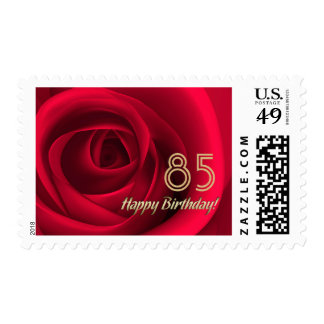 Happy 85th Birthday Customizable Postage Stamps