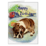 Happy 85th Birthday  Get Excited Humor Boxer Dog Cards