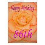 Happy 86th Birthday Flower Card