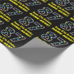 [ Thumbnail: Happy 87th Birthday, Fun Colorful Stars Pattern 87 Wrapping Paper ]