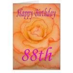Happy 88th Birthday Flower Card