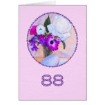 Happy 88th birthday with a flower painting card