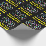 [ Thumbnail: Happy 89th Birthday, Fun Colorful Stars Pattern 89 Wrapping Paper ]