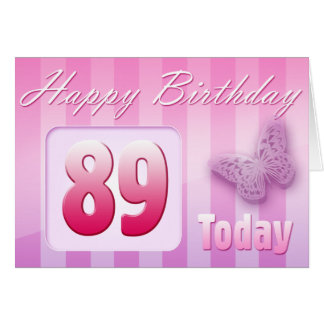 Happy 89th Birthday Grand Mother Great-Aunt Mom Card