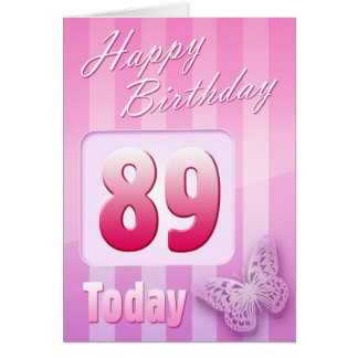 Happy 89th Birthday Grand Mother Great-Aunt Mum Greeting Card