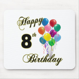 Happy 8th Birthday Mousepad and Birthday Apparel