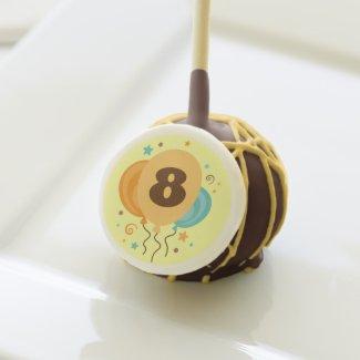 Happy 8th Birthday Party Treats Cake Pops