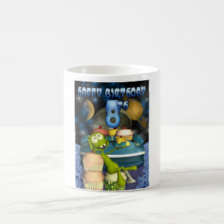 Happy 8th Birthday Plantet's Boy, Outerspace Classic White Coffee Mug