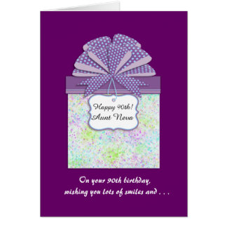 Happy 90th Birthday 3 Panel Greeting Card