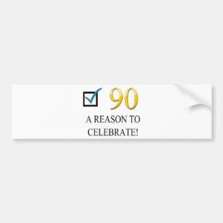 Happy 90th Birthday Bumper Sticker