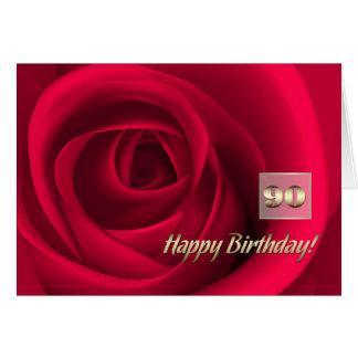 Happy 90th Birthday Customizable Greeting Cards