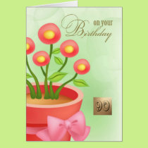 Happy 90th Birthday Customizable Greeting Cards