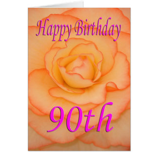 Hy 90th Birthday Flower Card