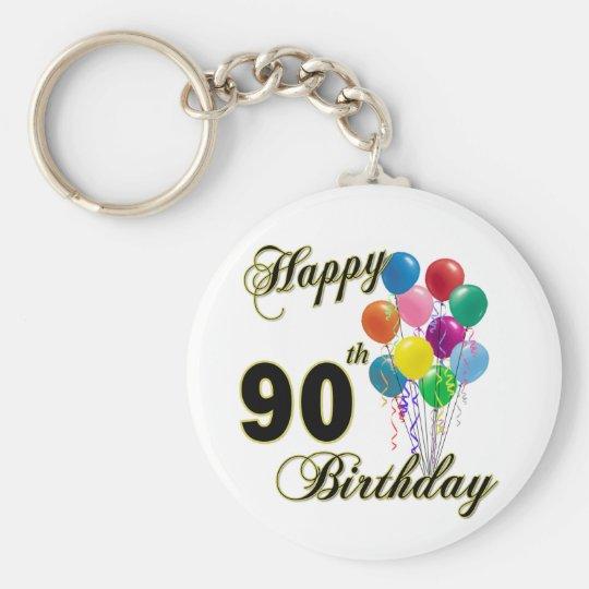 Happy 90th Birthday Gifts and Birthday Apparel Keychain