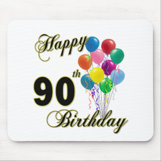 Happy 90th Birthday Gifts and Birthday Apparel Mouse Pad