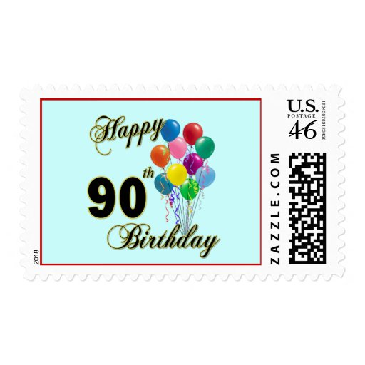Happy 90th Birthday Gifts and Birthday Apparel Postage Stamp