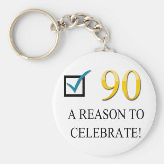 Happy 90th Birthday Keychain