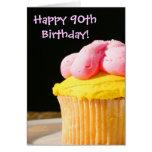 Happy 90th Birthday muffin Card