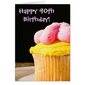 Happy 90th Birthday muffin Greeting Card