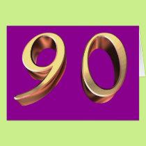 Happy 90th Birthday ninetieth ninety 90 Card