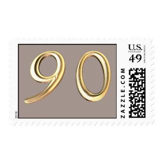 Happy 90th Birthday ninetieth ninety 90 Stamp