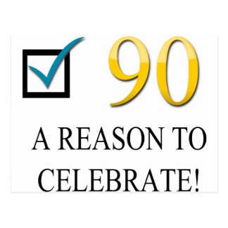 Happy 90th Birthday Post Cards
