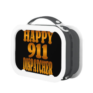 Happy 911 Dispatcher in Gold Lunch Box