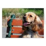 Happy 91st Birthday Cocker Spaniel Greeting Card